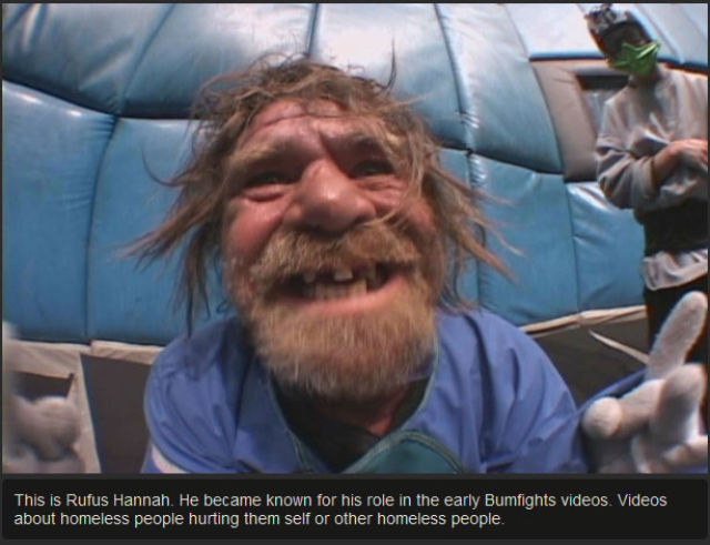 """An Update on a """"Bumfights"""" Contestant Today"""