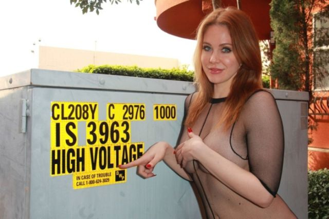 Maitland Ward Wears a Tantalizing See-through Mesh Outfit