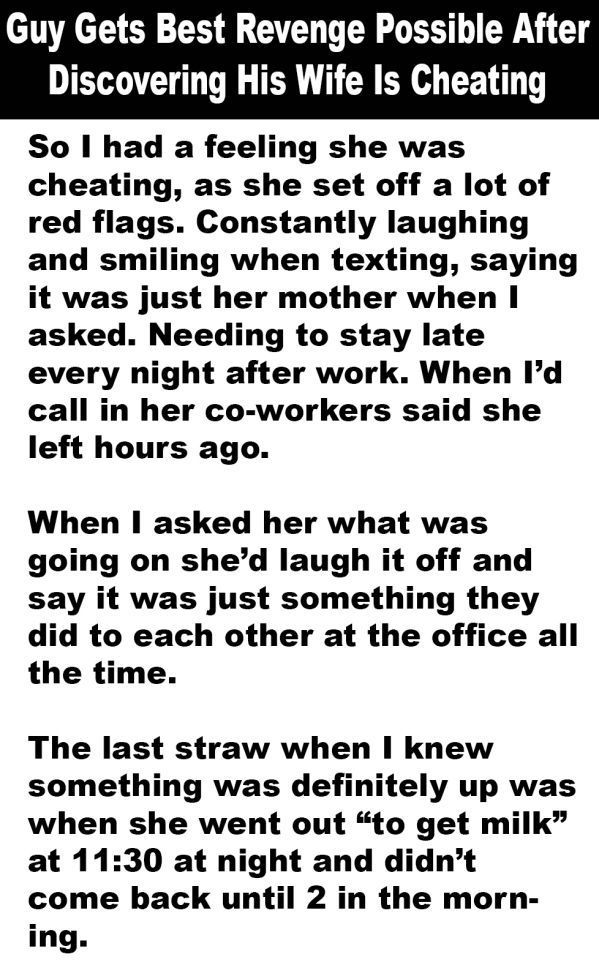 One Husband's Epic Revenge on His Cheating Wife