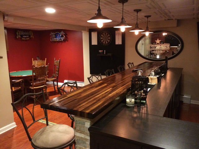 A Basement Bar Makeover That You Will Wish You Owned