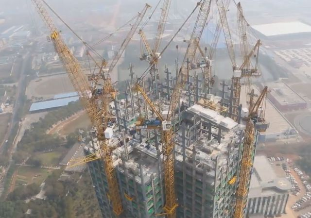 In China, They Build 57-Story Skyscrapers in 19 Days