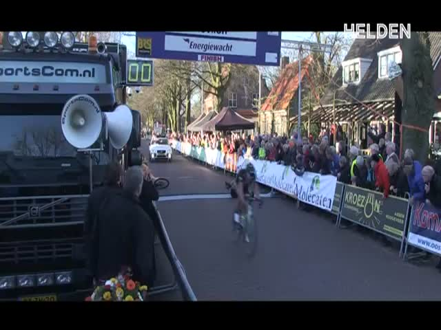 Spectator Knocks Female Cyclist Off Her Bike Just Before the Finish Line  (VIDEO)