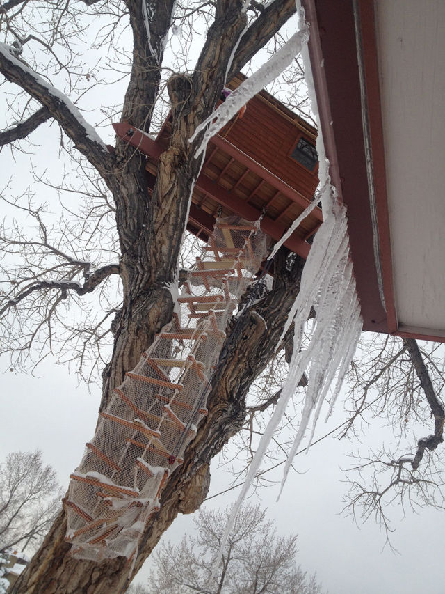 Father Builds an Incredible Tree House for His Daughter