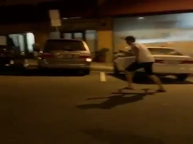 Don't Try to Skateboard When You're Drunk  (VIDEO)