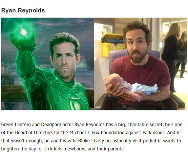 Superhero Actors who Are Superheroes in Real Life