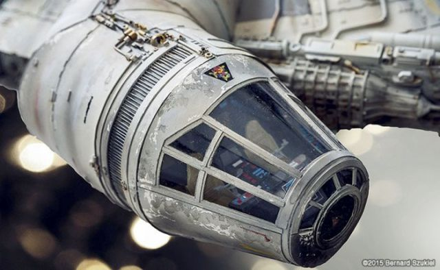 An Impressively Detailed Star Wars Millennium Falcon Replica