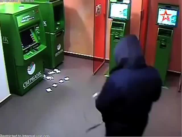 ATM Robbery in Russia  (VIDEO)