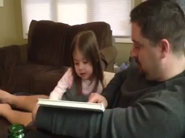 Little Girl's Funny Reaction to Learning She's Gonna Be a Big Sister  (VIDEO)