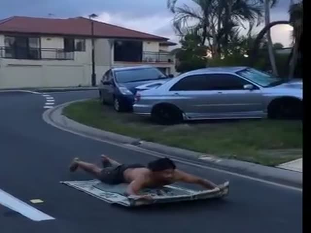 Real Life Aladdin Magic Carpet Ride  (VIDEO)