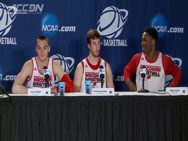 Basketball Player's Embarrassing Moment at a Press Conference  (VIDEO)