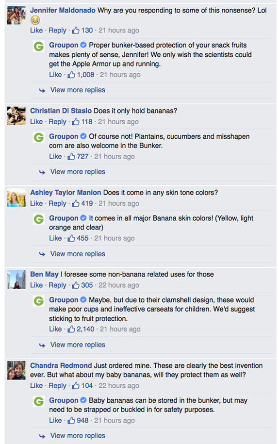 Hilarious Comments to an Odd Groupon Product Posting Online