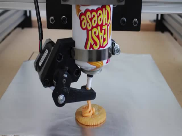 Spray Can Cheese 3D Printer  (VIDEO)