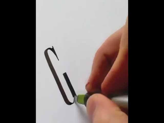 Amazing Artist Freehanding Famous Logos  (VIDEO)