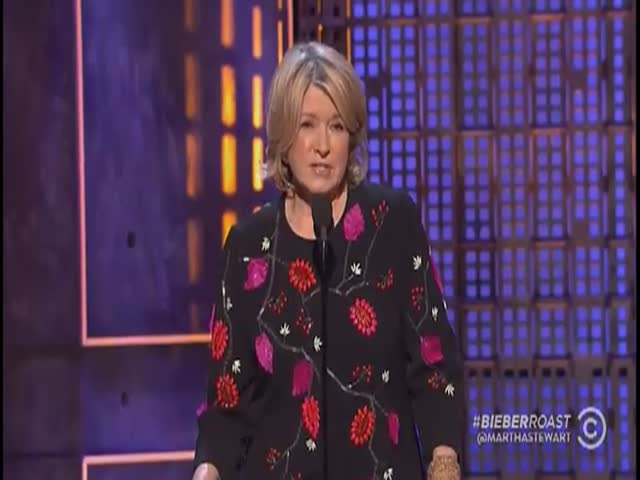 Martha Stewart Kills It at the Justin Bieber Roast  (VIDEO)