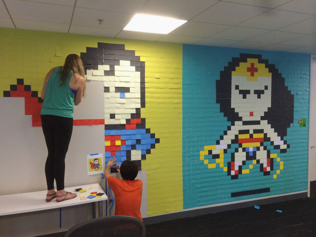 An Inventive Way to Turn Your Office Walls into Unique Works of Art