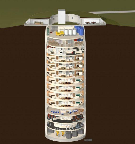 An Extravagant Underground Doomsday Bunker