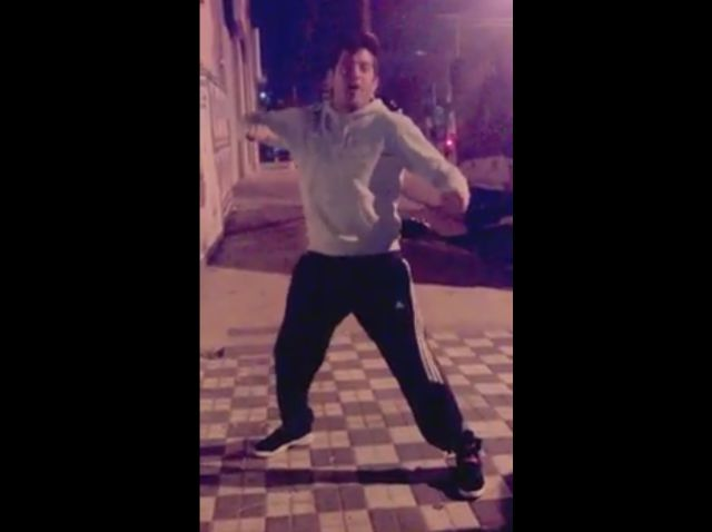 Argentinian Guy Dances to the Sound of a Car Alarm