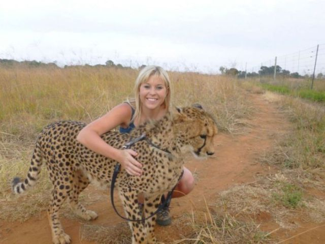 The Girl Who Is Friends with a Cheetah
