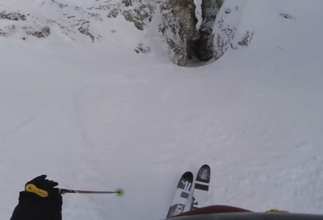 Insane Downhill Skiing