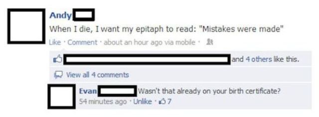 Some of the Epic Facebook Wins and Fails