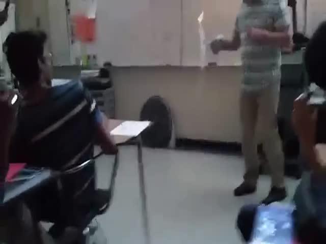 Chemistry Teacher Sets Classroom Floor on Fire