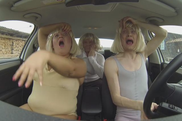 3 Russians Perform a Hilarious Lip Sync Medley While Riding Their Car
