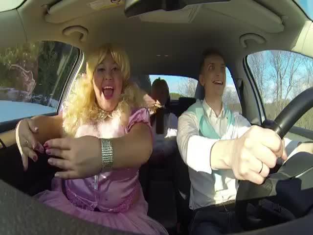 3 Russians Perform a Hilarious Lip Sync Medley While Riding Their Car