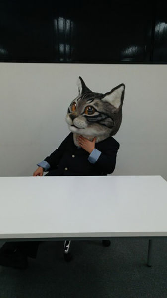 A Weirdly Cool Wearable Cat Head