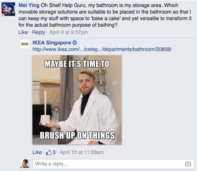 Ikea's Hilarious Replies to Customer Facebook Questions