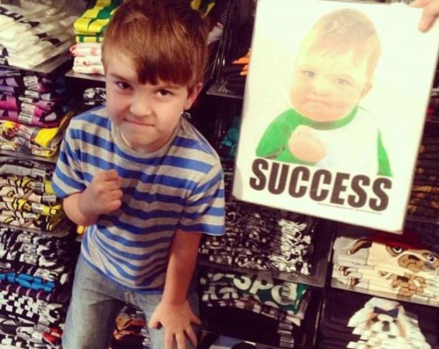 The Success Meme Kid Is Using His Fame to Save His Dad