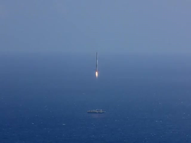 SpaceX Falcon 9 First Stage Landing Failed Attempt  (VIDEO)