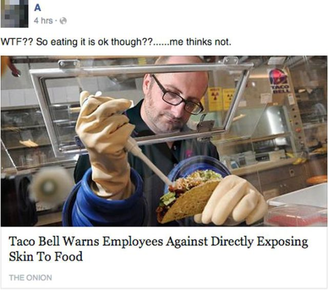 "Gullible and Amusing Facebook Responses to ""The Onion"""