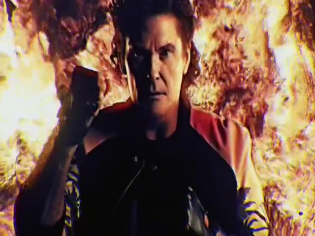 David Hasselhoff Stars in an Epic '80s Style Music Video