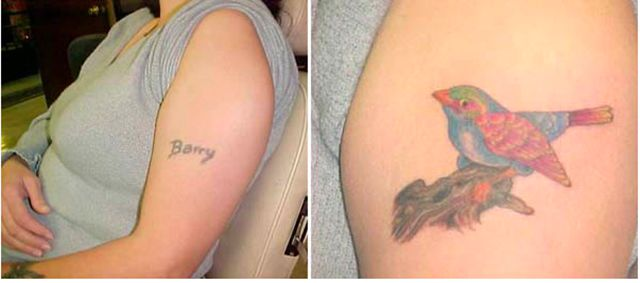 Tattoo Cover-ups of Exes Names