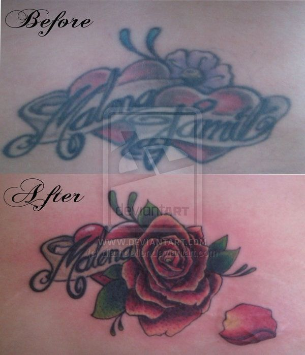 Tattoo Cover-ups Of Exes Names (27 Pics)