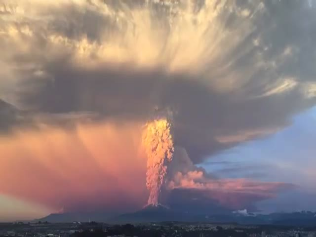 Massive Volcano Eruption in Chile