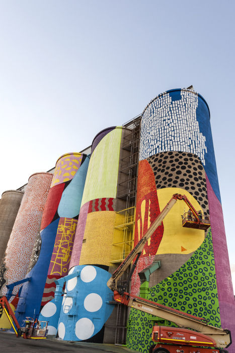 Grain Silos Are Instantly Transformed with a Creatively Colorful Paint Job