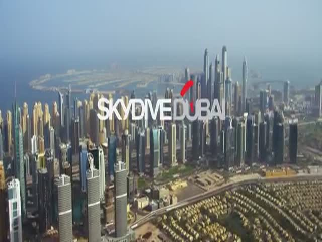 Daredevils Jump from World's Second Highest Skyscraper in Dubai