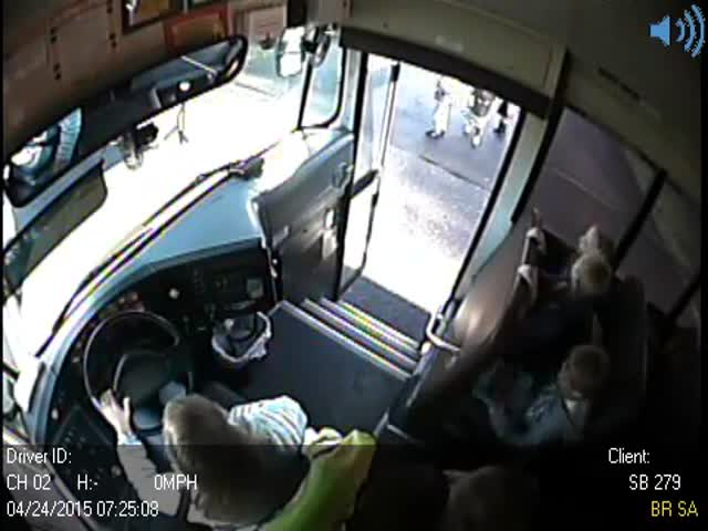 Driver Speeds Past Stopped School Bus, Nearly Kills 3 Kids  (VIDEO)