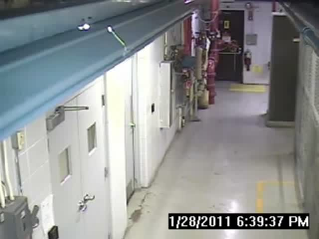 Water Main Line Pipe Burst in Factory  (VIDEO)