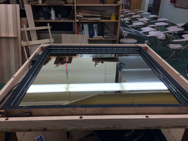 A Homemade Infinity Table That Is So Cool You Will Wish You Owned It