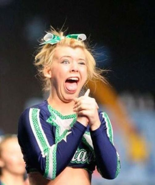 "Cheerleaders Don't Always Have Perfectly ""Cheery"" Faces"