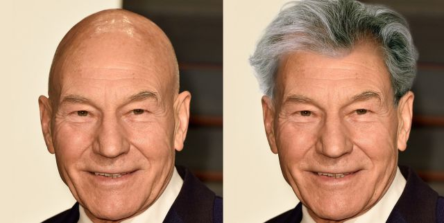 What Bald Celebs Would Look Like with a Head of Hair