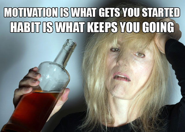 Hilarious Mash Ups of Motivational Fitness Quotes and Drinking Pics