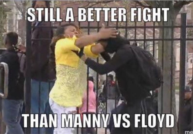 "Amusing Pictures That Sum Up ""The Fight of the Century"" Perfectly"