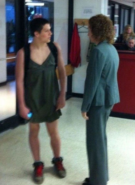 Boy Gets Sent Home from School for Dressing Like a Girl