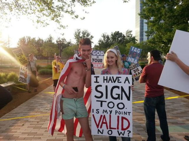 Protesters Who Have Their Signs Totally Nailed