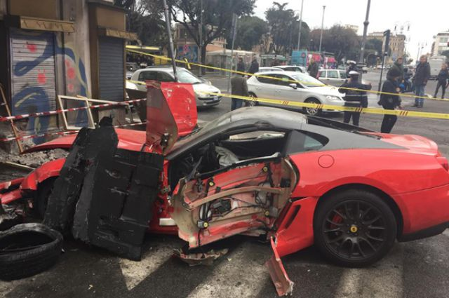 Valet Wrecks a Ferrari and a Storefront in One Go