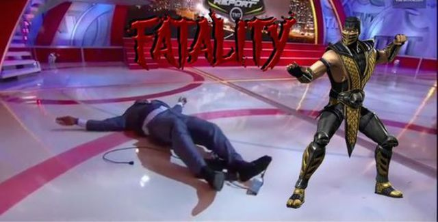 Shaq's Embarrassing Live TV Stage Dive Is the Funniest New Meme Online
