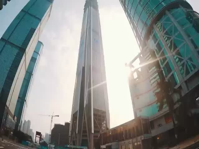 Climbing the Second Tallest Tower in the World with No Safety Equipment